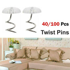 Clear Heads Twist Pins Fastener for Upholstery Chair Cover Blankets Sofa sets Us