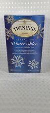TWININGS - Winter Spice Herbal Tea - 20 Individual Tea Bags (SEALED) EXP 05/2022