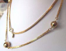 collier bijou vintage couleur or maille plaqte avec perle pleine  333