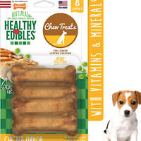 DOG CHEW BONES Natural Long Lasting Chicken Flavor Treats 8 count Petite Pack