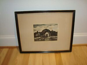 Original Thomas W Nason Woodcut & Copper Engraving * Listed Artist * Signed * #2
