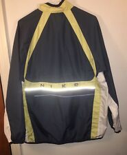 Mens Nike Large Zip Up Windbreaker Reflective Jacket Nike Spellout Double Vented