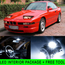 11PCS 6K White LED Light Interior Package Kit For 1991-1997  BMW 8 Series E31 PQ