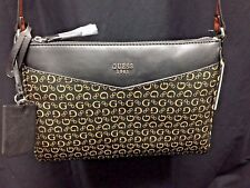NEW! Women's GUESS G LOGO BIRCH PURSE BLACK Multi HANDBAG CROSSBODY