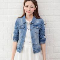Women''s Ripped Denim Vintage Denim Jeans Jacket Boyfriend BF Loose Coat