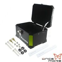 Motorcycle Outback Monokey Aluminium Top Box, Motorcycle Rear Luggage Case Black