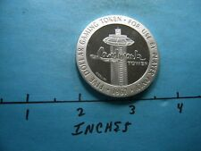 1.3 OZ LANDMARK TOWER CASINO 1967 VINTAGE $5 GAMING SILVER COIN NOT MANY SEEN