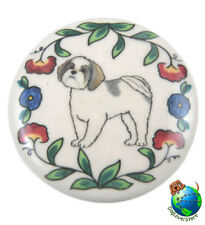 Shih Tzu Dog Wine Bottle Stopper Hand Painted Puppy Cut
