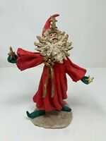 "Vintage SILVESTRI Resin SANTA Wizard Stars Figure 1995 10"" Tall Christmas Decor"