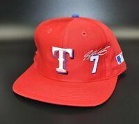 Texas Rangers Ivan Rodriguez MLB Vintage 90's Twins Enterprise Snapback Cap Hat