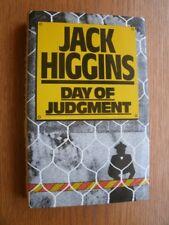 Jack Higgins Day of Judgement 1st HC UK SIGNED Fine