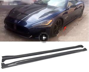 For Maserati GranTurismo Sport GTS Carbon Fiber Side Skirt Body Kit 08-15