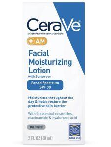 CeraVe Facial Moisturizing Lotion AM SPF 30 Oil Free 2 oz Exp 09-2022+