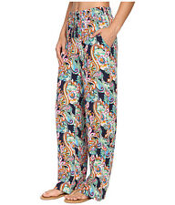 nwt tommy bahama swimsuit cover up paisley beach pants mare navy sz s