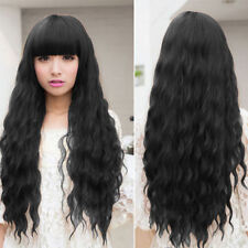 Womens Cosplay Wig Long Wavy Curly Ombre Red Hair Costume Party Lolita Full WP