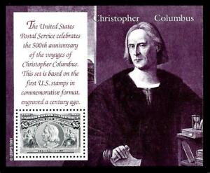 1¢ WONDER'S ~ HIGH VALUE MNH SOUVENIR SHEET W/ $5.00 CHRISTOPHER COLUMBUS ~ T404
