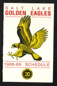 Salt Lake Golden Eagles--1988-89 Pocket Schedule--Coors Light--Flames Affiliate
