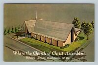 Moundsville WV, Church Of Christ, Hillview Terrace Chrome West Virginia Postcard