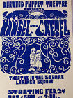 Vintage Hansel and Gretel Puppet Theater Poster