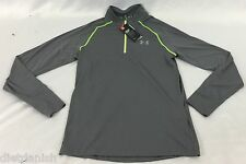 Under Armour Men's 1/4 Zip Sweater Gray Green NWT Size Small