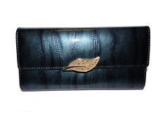 NEUF Portefeuille Long pour Femme en cuir 19x10cm