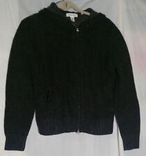 dcb6d25574ff Calvin Klein 94N Women s Lamb Wool Nylon Full Zip Sweater Jacket Large L  Hooded