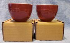 Longaberger Woven Traditions Pottery Small Nested Bowls - set of 2 Paprika Nib
