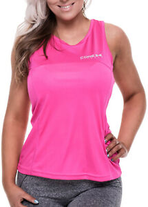 CoreX Fitness Womens Training Vest Pink Breathable Gym Sports Workout Tank Top