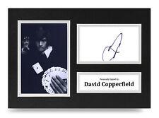 David Copperfield Signed A4 Photo Display Illusionist Autograph Memorabilia COA