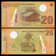 Nicaragua 20 Cordobas, 2007, P-202, Polymer, UNC