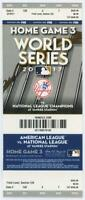 2017 MLB Baseball World Series New York Yankees Phantom Ticket Game 3
