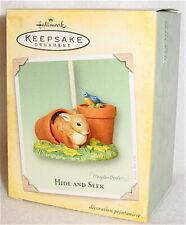 2004 Hallmark - Hide And Seek - Marjolein Bastin - Bunny Bird ornament