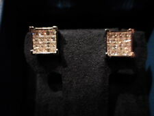 Simulated Diamond Princess Cut Earrings in 925 Sterling Silver-1.00 Carats