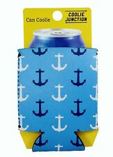 Coolie Junction Anchor Pattern Can Coolie, Neoprene Collapsible, Cozy