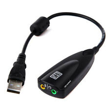7.1Channel 3D Virtual USB External Audio Sound Card Headset Microphone Adapter B
