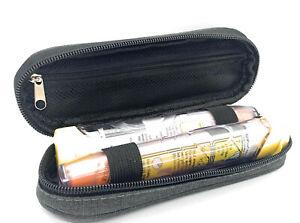 ICE Medical Grey / Black Twin Epipen Syringe Case - Allergies Diabetes Inhalers