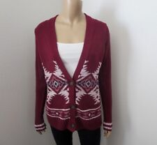 NWT Hollister Womens Patterned Cardigan Size XS Burgundy
