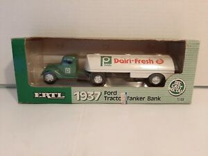ERTL 1937 FORD TRACTOR TANKER BANK 1:43 SCALE - PUBLIX DAIRI-FRESH - MIB