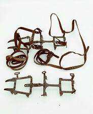 SMC 12 Point Metal Adjustable Crampons Climbing Irons w Straps Sz M Made in USA
