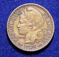 French Cameroon 50 Centimes 1926 AU Grade Nice Rare Al-Bronze Coin!