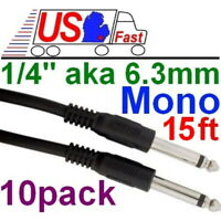 """25ft Mono 1//4/"""" coiled Guitar//Amp Patch//Cable//Cord//Wire Right Angle//Elbow,6.3mm{~"""