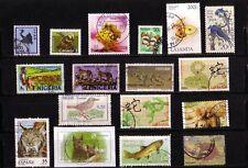 Tiere auf Briefmarken, 17 Marken mit schönen Tiermotiven. (138)