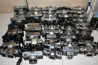 MASSSIVE Minolta Pentax Ricoh Kodak Nikon Canon Film Camera Lot of 45 FOR PARTS