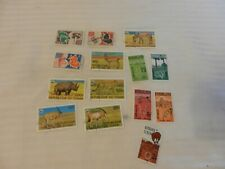 Lot of 14 Chad Stamps 1962, 1979 Communications, Native Scenes Animals