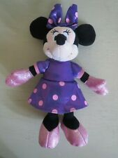 TY Sparkle Minnie Mouse Plush Doll Disney Purple & Pink