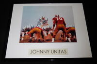 Johnny Unitas Colts vs Redskins Framed 11x14 Photo Display