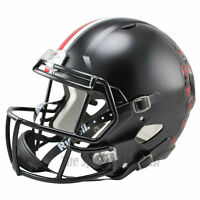OHIO STATE OSU BUCKEYES BLACK RIDDELL SPEED FULL SIZE REPLICA FOOTBALL HELMET