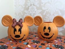 More details for disney mickey and minnie pumpkin trick or treat baskets halloween buckets 🎃👻