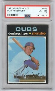 1971 O-Pee-Chee #455 Don Kessinger PSA 6 Chicago Cubs
