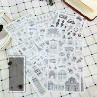 6pcs/lot Diary Decoration Scrapbooking Transparent Stationery Planner Stickers N